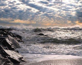 Asbury Park, New Jersey at Sunrise Photo Print