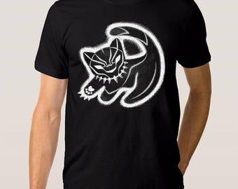 Black Panther Art T-Shirt, Marvel Comics Tee, All Sizes