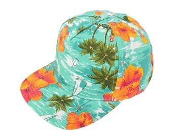 Snapback Vintage | Vintage Fresh Prince | Festival Snapback | Summer Snapback | Hawaiian Snapback | Snapback Cap | Retro Snapback | 80's Hat