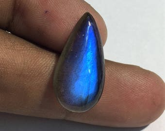 13.7 Cts 100% Natural Medagascar's Labradorite Cabochon Blue Flash Fire Polished Cabochon Healing Quartz Pear Shape 23x11x5 mm N#1272-12