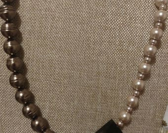 Champagne and Chocolate Pearl Necklace