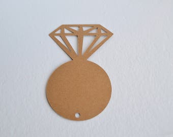 Diamond Ring Tags BLANK - Gift Tags, Hang Tags, Gift Tags, Labels, Favour tags
