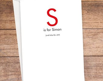S is For... Card