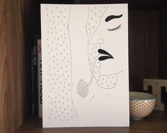 Feminist Art / Body Positive Art / Girl Power Art / Quirky Art / Naked Woman Art / Bathroom Art / Lady Print / Self Love Art