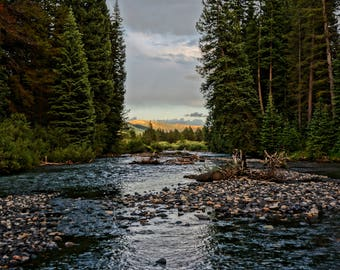 Colorado, Landscape Photography, Nature Photography - Slate River at Dusk