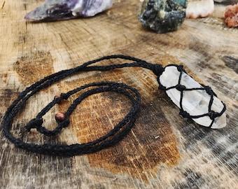 Necklace - Raw Clear Quartz