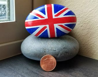 Union Jack Flag (Rock Painting)