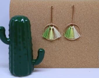 Green ombre tassels
