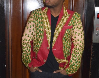 Men's Blazers, Ankara Sport's Jacket, Wedding Blazer, African Clothing, Ankara Jacket