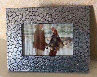 """photo frame 4""""x6"""" """"alligator"""" texture in repujado"""