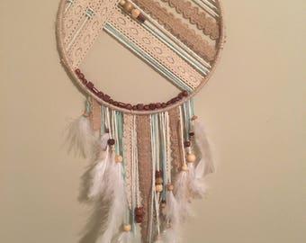 Handmade boho dreamcatcher
