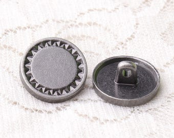 light black buttons 10pcs 15*7mm round metal buttons coat buttons shank buttons bohemian buttons