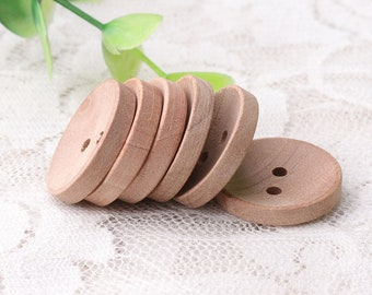 20mm diameter wood buttons 10pcs 2 holes buttons round brown buttons natural wood buttons sewing buttons for coat shirt clothing buttons