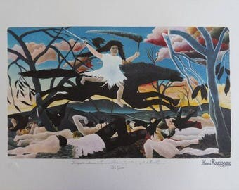 Henri Rousseau - war - lithograph - 1975