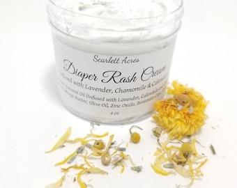 Organic Diaper Rash Cream, Bentonite Diaper Cream, Healing Diaper Rash Cream, Calendula Diaper Rash Cream, Diaper Ointment.