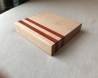Mini Hardwood Cutting Board: Maple & Padauk