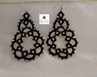 Black Chandelier Earrings