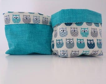 baskets reversible blue OWL