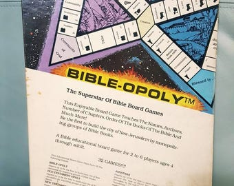 BIBLE-OPOLY board game 1981 edition
