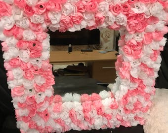 Beautiful flower framed mirror
