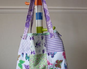Pretty Butterflies and Floral Tote bag