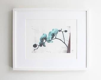 Orchids Silkscreen Print