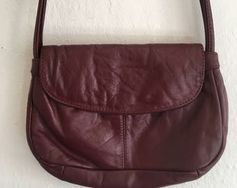 Vintage Crossbody Burgundy Purse/Bag