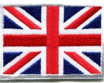 Union Jack British flag United Kingdom Britain applique iron-on patch Small