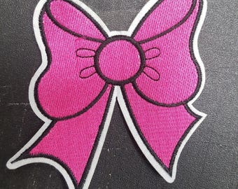 pink ribbon iron on high quality  sequins / embroidered