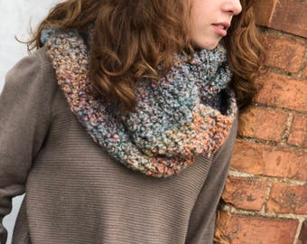 Super Bulky Multicolored Infinity Scarf