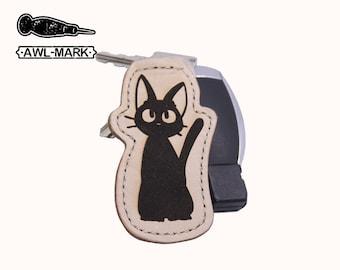 Studio Ghibli KiKi's Delivery Service Jiji Cat Leather Keychain/Keyring