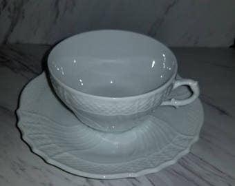 Richard Ginori Vecchio Blanco Tea Cup and Saucer