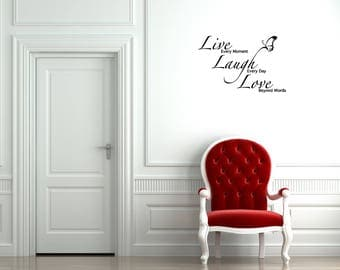 Wall Decal: Live Laugh Love