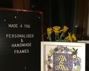 Personalised mr&mrs frame