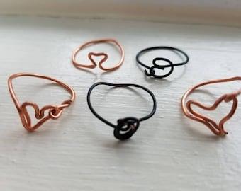 Set of midi rings