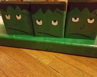 Frankenstein wood blocks