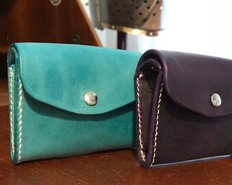 Aqua coin purse with card slot