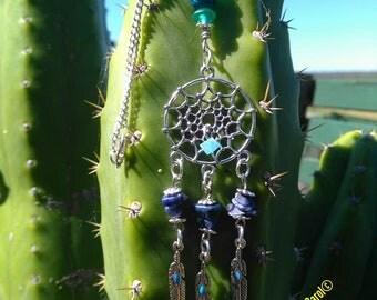 Pendant ~ Dreamcatcher Lava Bead Pendant Necklace