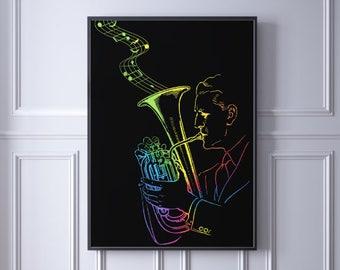 Rainbow Tuba Player