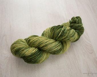 "Hand Dyed Yarn - ""Avocado Smash"" Merino Sock, 4ply, Indie Dyed Yarn, 100g Skein"