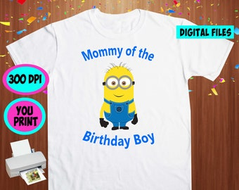 Minions. Iron On Transfer. Minions Printable DIY Transfer. Minions Mommy Shirt DIY. Instant Download. Digital Files Only.