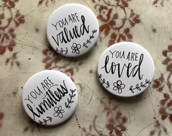 Positive Affirmation Buttons