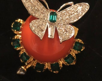 Kenneth Lane Duchess of Windsor Collection Butterfly Brooch