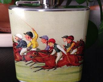 Vintage Vanity Fair Print Flask