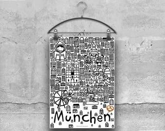 city-poster Munich München