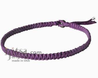 Purple Flat Hemp Surfer Necklace