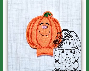 PUMPKIN Center or Ear (Add On ~ 1 Pc) Mr Ms Mouse Ears Headband ~ In the Hoop ~ Downloadable DiGiTaL Machine Embroidery Design by Carrie