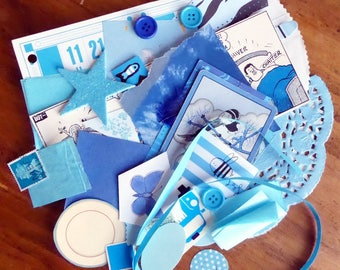 Blue - Paper Ephemera Kit