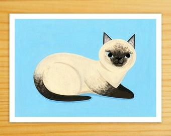 Siamese Cat 5x7 Print