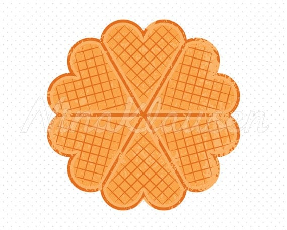 Norwegian Waffle Clipart for Commercial Use - 0002